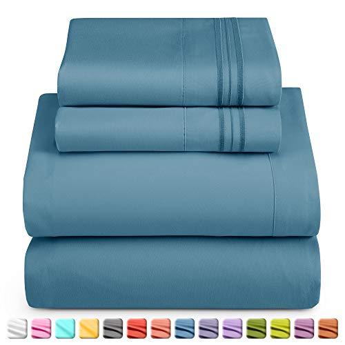 Nestl Bedding Juego de sábanas de 4 piezas - Juego de sábanas 1800 para colchones altos - Sábanas de Microfibra de lujo de hotel doble cepillado - Sábana ajustable para...