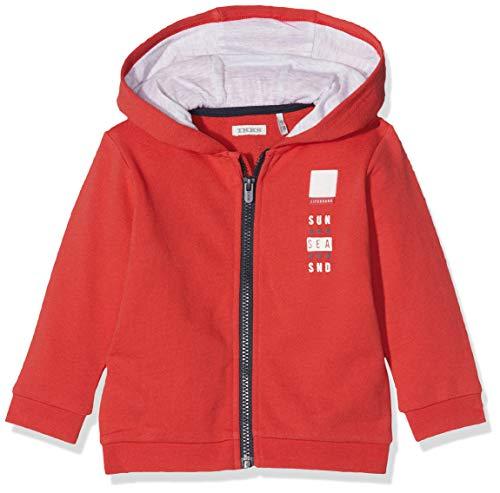IKKS Junior Cardigan Capuche Chaqueta Punto, Rojo (Rouge Moyen 36), 9-12 Meses (Talla del Fabricante: 12M) para Bebés