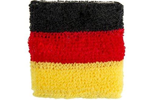 Schnooridoo 12 x Schweißband Deutschland WM EM Fußball 7x7 cm Armband Party Mitgebsel Kindergeburtstag Give Away