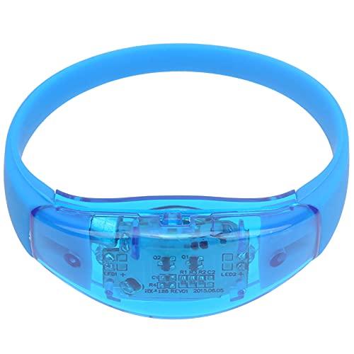 Pulsera LED para correr por la noche, fácil de poner y quitar, pulsera LED para fiestas, escenario, concierto musical para bar(blue)