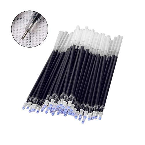 PULABO 20 piezas de repuesto de bolígrafo de gel para bolígrafo de tinta de 0,5 mm, material de oficina y escuela, color negro, muy práctico y elegante duradero