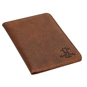 417m34Ir9UL. SS300  - Funda de Cuero para Pasaporte Gusti Leder Brodie Estuche Protector Documentos Cuero de Buey Marrón 2S40-33-1
