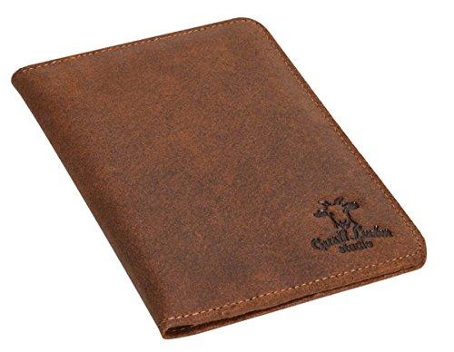 Portadocumenti ''Brodie'' di Gusti Leder studio per passaporto carte banconote vintage marrone 2S40-33-1