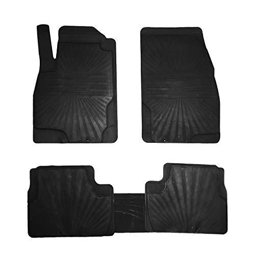 RE&AR Tuning Alfombrillas de goma para Opel Insignia 2009-2017, color negro