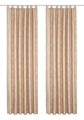 Vorhang Blickdicht 2 Stück Home AFFAIRE 145 x 140 Dekostore Metallic