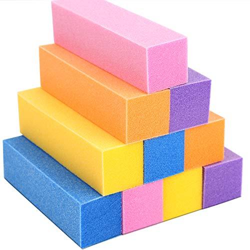 Nail Buffer Block, Teenitor 4 Way Nail File Buffing Sanding Buffer Polisher for Home Professional Manicure Pedicure Kit 10pcs Pack