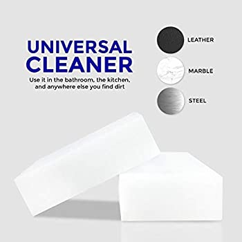 STK 20 Pack Extra Thick Magic Cleaning Pads - Eraser Sponge for All Surfaces - Kitchen-Bathroom-Furniture-Leather-Car...