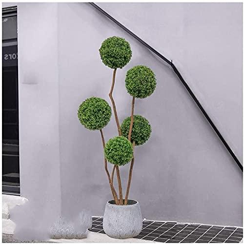 Árboles Topiary artificiales Plantas en macetas para el jardín del hogar Uso en interiores y exteriores, Plantas de árboles falsos para la decoración de la oficina en el hogar Plantas artificiales de