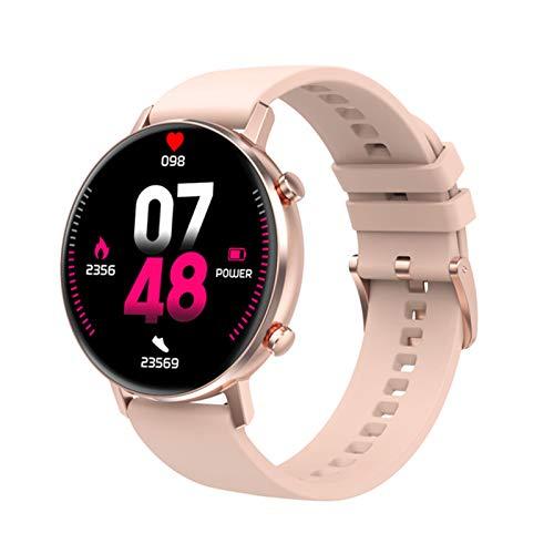 YZK Smart Watch Men's 360 * 360 HD Pantalla HD Dual UI Monitor de frecuencia cardíaca IP68 Waterptoof para Android iOS Teléfono móvil Ladies Watch SmartWatch,A
