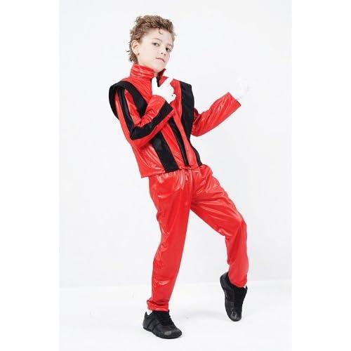 CHILD DELUXE ZOMBIE KING OF POP FANCY DRESS COSTUME SUPERSTAR JACKO 80S THRILLER