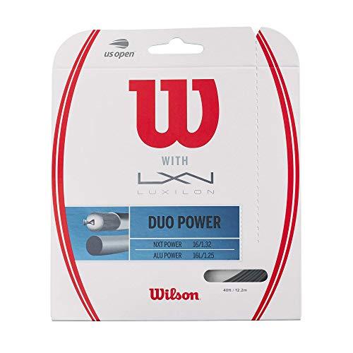 Wilson Duo Power Alu P 125 & NXT P 16 Tennis String, Natural, 16 Gauge