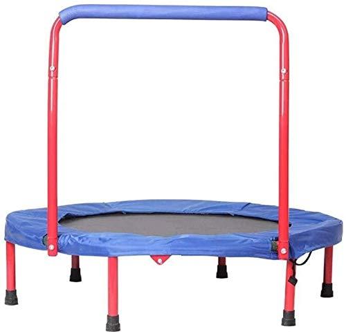 BRFDC Trampolin Fitness Interior/Exterior niños Camas elásticas Ajustables Barandilla de Seguridad y Acolchada Cubierta Plegable Mini