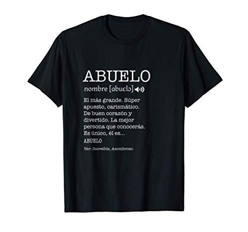 Regalo para Abuelo con Nombre Divertido Significado Familia Camiseta