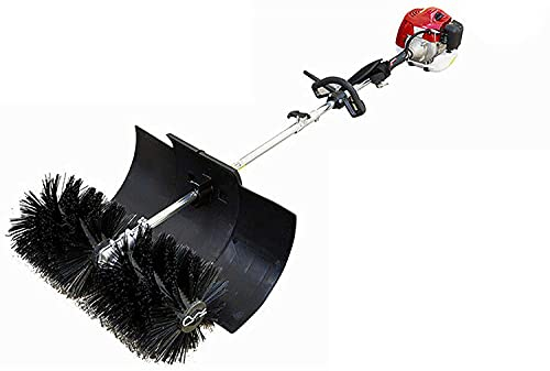 Kehrmaschine Schneeschieber Benzin Motorbesen Schneefräse 52CC Handkehrmaschine Kehrbesen, 1.7 kW / 2.3 PS
