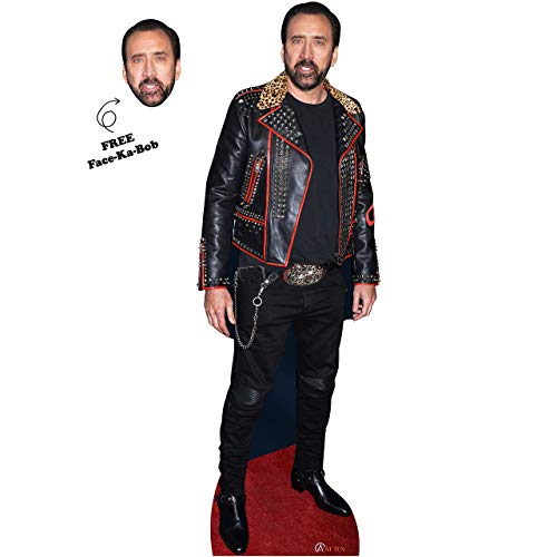 Nicolas Cage Cardboard Cutout Nicolas Cage Cardboard Cutouts Life Size Realistic Set of 2 - Nic Cage Celebrity Mask - Cardboard Standup - Great Party Decoration Solid