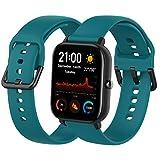 Th-some Correa para Amazfit GTS Smartwatch Reloj de Pulsera Compatible con Amazfit GTS/Amazfit Bip/Amazfit GTR 42mm Band Silicona (Verde)