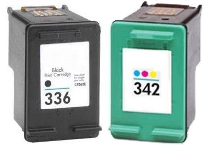 Remanufactured HP 336 342 (Black and Colour) Printer Ink Cartridges for HP Deskjet Deskjet 5420 5420V 5432 5440 5440V 5440XI 5442 5443 D4100 D4145 D4155 D4160 D4163 Officejet 6300 6301 6304 6305 6307 6308 6310 6310V 6310XI 6313 6315 6318 Photosmart 7800 7838 7838V 7838XI 7850 7850V 7850XI C3100 C3110 C3125 C3135 C3140 C3150 C3170 C3173 C3175 C3180 C3183 C3185 C3188 C3190 C3193 C3194 PSC 1500 1503 1504 1507 1508 1510 1510S 1510V 1510XI 1513 1513S 2570 2575 2575A 2575V 2575XI