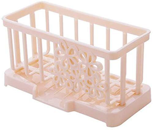 Keukenmeubel-wastafel-reinigingsdoeken planken kunststof lekkage planken voor keukengerei sponzen planken steigers planken (17 x 9 x 9 cm) keukenkasten en bestekkasten beige