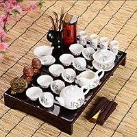 NJJPN ティーテーブルの上に八点セットハイエンドギフトホット販売父の日ギフトアイデアカンフーティーセットカップ、グラス、中国茶道 (Color : 6)