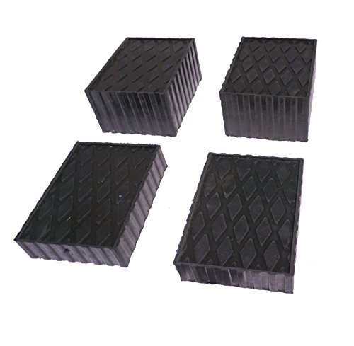 Auto Lift/Rolling Jack Rubber Block Pad Adapter Set of 4 (2-1 1/2' and 2-3')