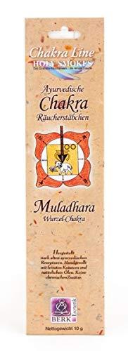 Räucherstäbchen Wurzel-Chakra Muladhara 1 Packungen 10 g | Raumduft Chakra Line Holy Smokes | Ayurvedische Räucherwerk | Esoterik günstig online kaufen