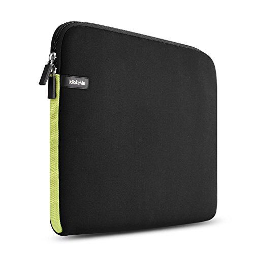 kilokelvin 15-15.6 Funda Protectora para Portátiles/Neopreno Funda de Portatil/Portátil Caso/Caja de la Tableta para Acer/ASUS / DELL/Fujitsu / Lenovo/HP / Samsung/Sony Toshiba (Verde Negro)