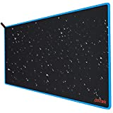 Psitek XXXL Large Gaming Mouse Pad True Size 36'x16.5' Extended Desk Keyboard Mousepad,Waterproof Cloth Surface Optimized for Precision, Durable Stitched Anti-Fray Edges Blue