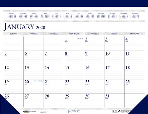 House of Doolittle 2020 Monthly Desk Pad Calendar, Classic, 22 x 17 Inches, January - December (HOD150-20)