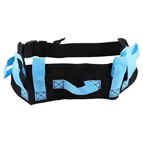 HEALLILY Cinturón de Marcha de Transferencia con Hebilla de Liberación Rápida Paciente Anciano para Caminar Deambulante Ayuda para Movilidad Ayuda para Ayudar a La Enfermera Terapeuta (Azul)