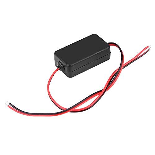 Qiilu 12V DC Rectificador del filtro del condensador de la retransmisión del poder de Cámara de vista posterior del coche