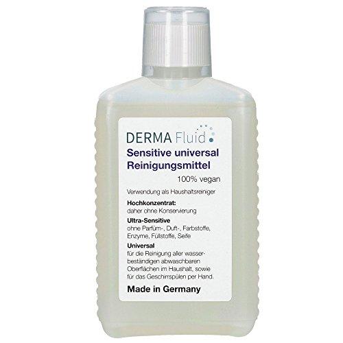 Sensitive Reinigungsmittel (5 ml auf 5 L Wasser) ohne Duftstoffe, Konservierer, Säuren, Lösemittel, Alkohol - ideal für Baby's, Asthma, Allergiker, Neurodermitis, empfindliche Haut/Allergie (250 ml)