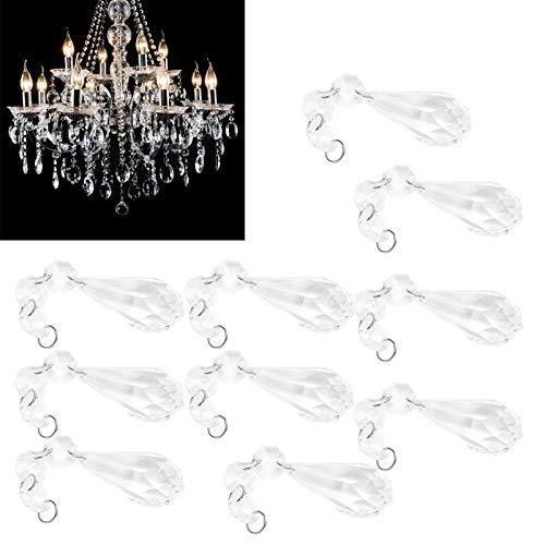 Colgante de cristal, cuentas de cristal transparente para decoración del hogar para guirnaldas de banquete de boda