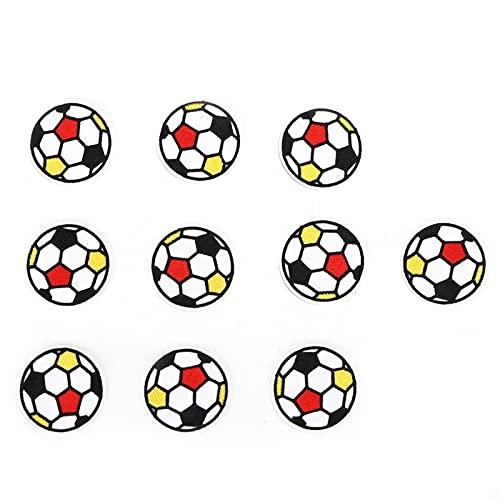 Les-Theresa 10 st sy lapp boll sport spel stil emblem gör-det-själv broderad lapp sy applikation för barn dekoration kläder reparation