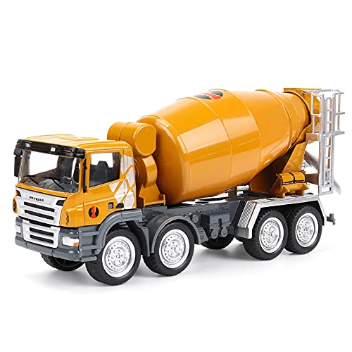 HAPYAD 1/50 Diecast Metal Cement Mixer Truck Toy for Kids, Construction Truck Vehicle Car Toy for Boys and Girls