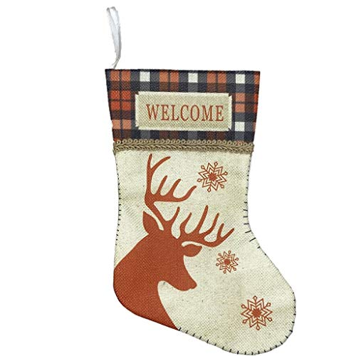 Mingbai Christmas Stockings, Personalized Christmas Stockings Home Decorations Gifts for Family, 3D Plush Socks Gift Bags for Kids Decor Home Ornament Holiday Party Supplies
