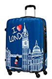 American Tourister Disney Legends - Spinner L Valigia per Bambini, L (75 cm - 88 Litri), Blu (Take Me Away Mickey London)