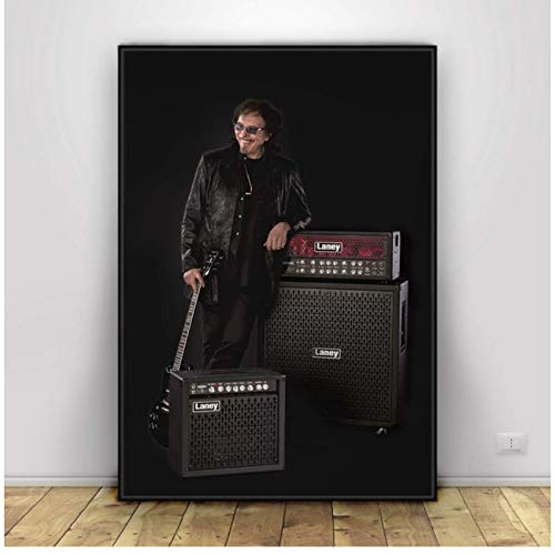 LIUXR Tony Iommi Guitarrista Black Sabbath póster e Impresiones Arte de Pared Lienzo Pintura Impresiones en la Pared decoración del hogar -50x75cm sin Marco