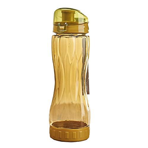 Botella Agua Gimnasio Botella Agua Deporte Deportes Botellas de Bebidas Frasco de Agua Botella de los Deportes Deporte Taza de Agua Yellow,600ml