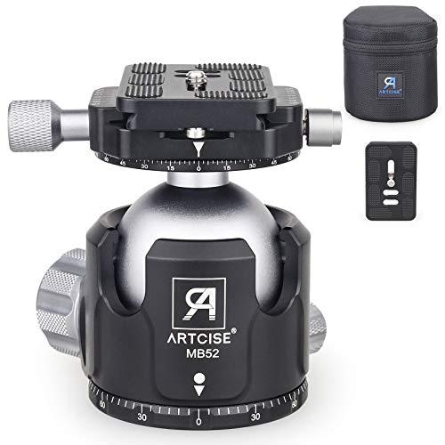 Testa a sfera a basso profilo Testa treppiede Diametro sfera da 52 mm Testa a sfera panoramica...