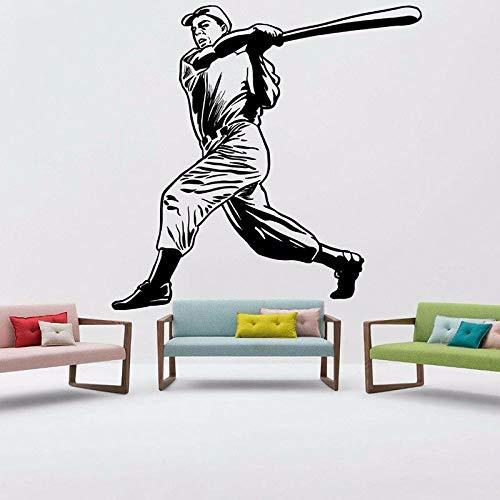 Calcomanía de béisbol para pared, deportes de pelota, vinilo para niño, pegatina para ventana, dormitorio para adolescentes, gimnasio, guardería, Interior, arte decorativo, Mural