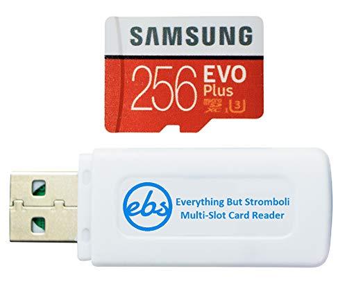 Samsung 256 GB Micro SDXC EVO Plus Speicherkarte mit Adapter funktioniert mit Samsung Galaxy S7, Tab S7+ Tablet, A21s Smartphone (MB-MC256HA) Bundle mit (1) Everything But Stromboli SD, TF-Kartenleser