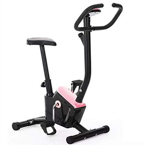 PHASFBJ Bicicleta estática, Bicicleta de Oficina en casa Ajustable de Resistencia multinivel, Bicicleta de Spinning, Bicicleta de Entrenamiento aeróbico en casa,Rosado