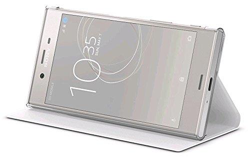 Style Cover Flip Handhülle in warm-white mit Standfuß - für Sony Xperia XZs