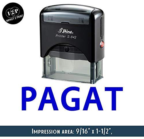 IMPACT2PRINT Brillante S-842 Autoentintado Sello De Goma PAGAT Sellos De Negocios Personalizados Papelería De Oficina