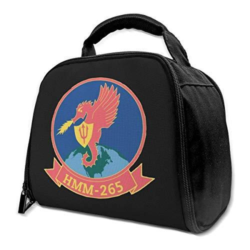 NE Marines Aviation SSI HMM 265 Borsa da pranzo isolata Borsa da pranzo isolata Scatola da frigo Borsa termica per lavori di picnic