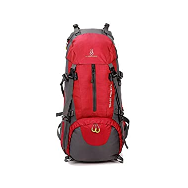 Montania 60L Extra Large Hiking Travel Backpack Camping Backpacks (6 Colors) (Red)