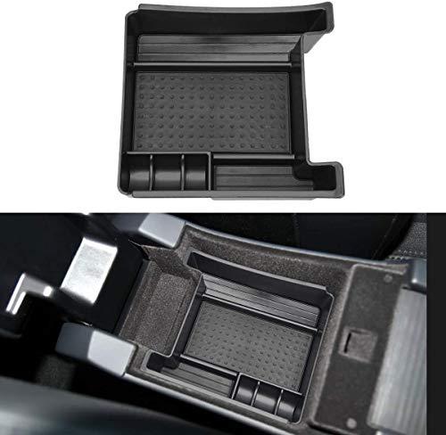 MARCHFA Apoyabrazos Almacenamiento Compatible para XC60 S60 V60 2011 – 2017 Consola Central Organizadora Negro