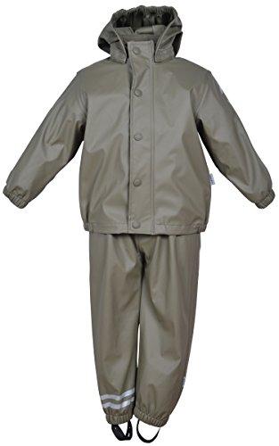 mikk-line Baby-Jungen PU Rainwear-Set Regenhose und Regenjacke Wassersäule 8000 Jacke, Grün (Dusty Olive 364), 74