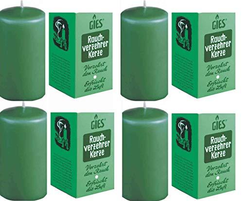 4x Rauchverzehrkerze Stumpenkerze 110x58mm NEU Kerze Zigarettenrauch Geruch Entfernung Anti Tabak Nikotin