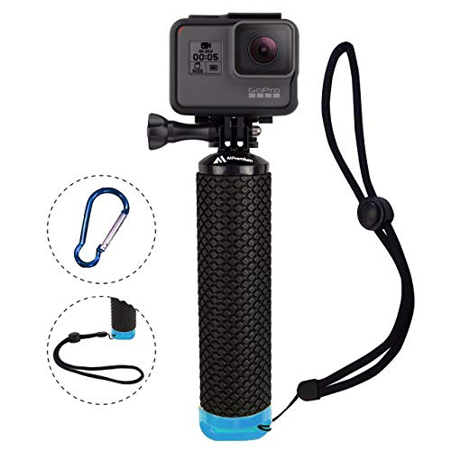 Waterproof Floating Hand Grip Compatible with GoPro Hero 8 7 6 5 4 3+ 2 1 Session Black Silver Camera Handler & Handle Mount Accessories Kit for Water Sport and All Action Cameras (Blue)